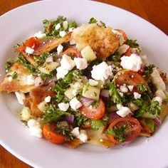 """Arabic Fattoush Salad 