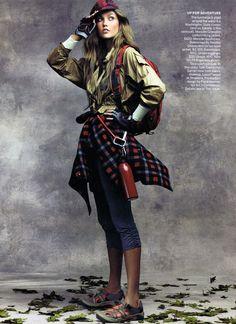 """America The Beautiful"" | Model: Karlie Kloss, Photographer: Craig McDean, Vogue US, June 2011"