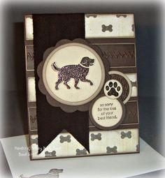 Dog Sympathy  Handmade Sympathy Card