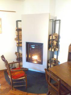 Salas comedor y cocina on pinterest dark wood trim log - Chimeneas de biomasa ...