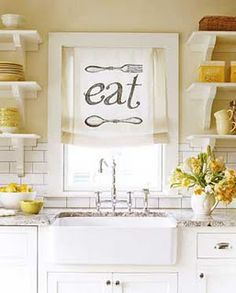 kitchen curtain idea