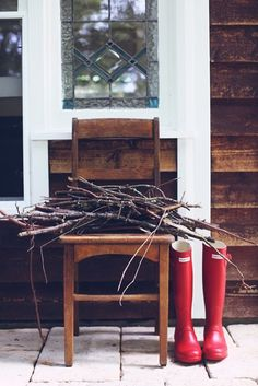 red boots. kindling.