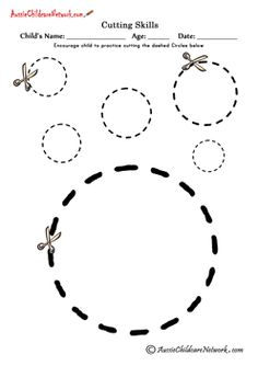 Cutting Shapes - Printables to Cut Out Shapes -Shapes to Cut