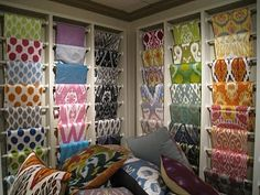 Ikat! Smart way to store my fabric!