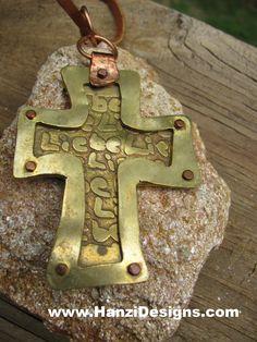 LIEBE Brass & Copper Cross