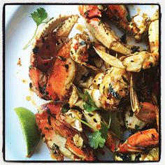 Southeast Asian Oven Roasted Crab by ediblesanfrancisco #Crab #Asian #Oven_Roast