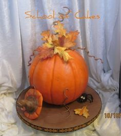 Fall Pumpkin Cake - 1025F - Cake Decorating Community - Cakes We Bake