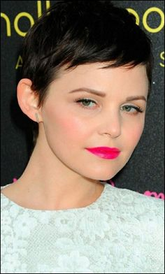 Super Short Pixie Haircuts | Super short pixie haircut is really flattering Ginnifer cute sweet ...
