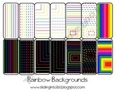 rainbow backgrounds-perfect for creating your own teaching items! $1.50