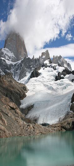 Glacial view on hike