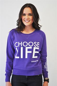 "Choose Life Jr. Pullover Choose Life is inspired by Jeremiah 1:5 and has it written on the sleeve. ""Before I formed you in the womb I knew you;Before you were born I sanctified you; I ordained you a prophet to the nations."" #pro #life"