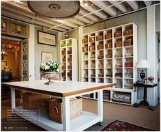 Design workspace | fabric swatch storage, large work area