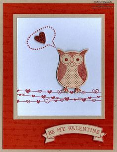 Heart Question Owl by Michelerey - Cards and Paper Crafts at Splitcoaststampers