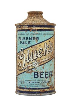 Gluek's cone top beer can.
