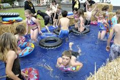 Year ends in hay-bale pool