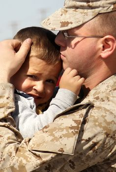 comforting the little boy