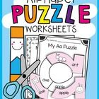These fun alphabet puzzles will give your students practice with cutting, gluing and phonics skills.  These puzzles will give your students practic...