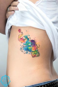 watercolor tattoo | watercolor tattoo | Follow the Colours very cool style