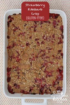 Strawberry Rhubarb Crisp {Gluten-free}