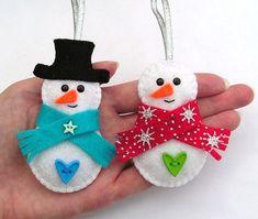 Christmas Creative: Christmas Decorations ~ Hatifers Hand Sewn Gifts christmas decorations, felt snow, christma decor, felt stuff, christma group, christma fun, christma craft, felt ornament, hand sewn gifts