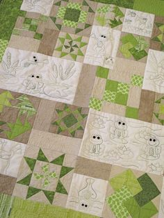 Frog Work by Briarwood Cottage. Kits available at www.hollyhillquiltshoppe.com