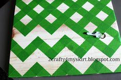 How To Tape Off A Chevron Pattern