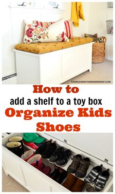 Perfect for organizing kids shoes for back to school!