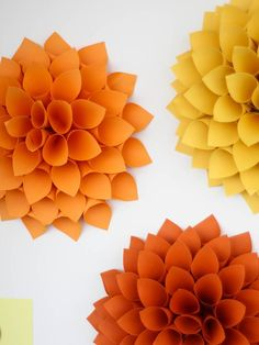 How to Make Your Own Giant Paper Dahlias