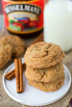 Apple Butter Snickerdoodles | crazyforcrust.com | #applebutterspin