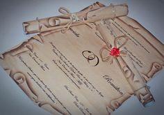 Pergaminhos para convites de casamento. #casamento #convites