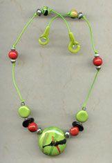 Necklace - Apple Splash @antelopebeads.com #kazuri #beading #jewelry