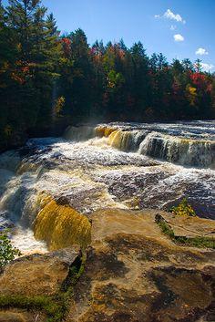 Lower Tahquamenon Falls, Tahquamenon Falls State Park, Michigan http://www.stopsleepgo.com/vacation-rentals/Michigan/United-States