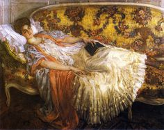 Rest (also known as Femme au sofa)  Frederick C. Frieseke