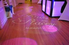 Customize your wedding by putting you names in lights. This is a great example at the Exeter Inn in Exeter NH