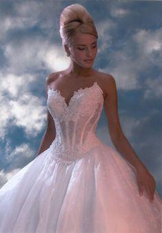 flowy corset wedding dress