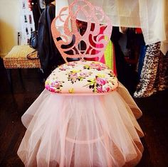 Take a seat Princess  ...in my pretty pink  tutu chair for @carol vinson NY! XoX