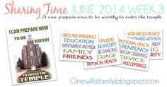 One Willis Family: June 2014 Sharing Time Week 3