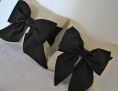 DIY Bow Pillows. Well aren't these adorable.