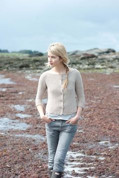 sparrow sans collection: casco bay cardi by carrie bostick hoge / quince & co sparrow