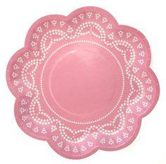 Light Pink Dainty Doily Plates (set of 10)