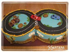 Cars Race Track cake