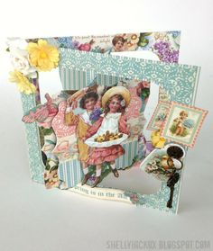 card idea, easter card, accordion card, graphic45 creation, graphic 45