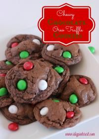 Chewy Chocolate Oreo Truffle Cookies are soft and chewy!