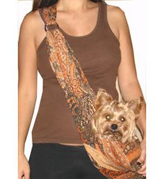 Puppy Sling Carriers Proud Paisley- yeah I might be that kind of dog owner--prob can make one?