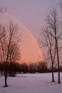 Winter Rainbow, Skaneateles Falls, New York