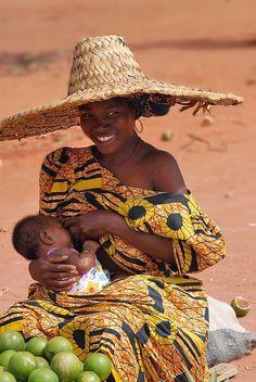 #Breastfeeding mama in Togo