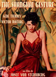 Gene Tierney (gown by Oleg Cassini)