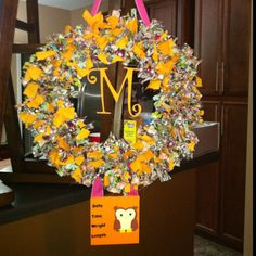 Welcome Baby Hospital Door Wreath