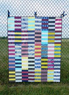 Rugby Stripe Quilt   Flickr