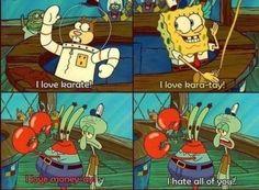 spongebobsquarep, hate, laugh, spongebob squarep, funni thing, giggl, spongbob, squidward, quot
